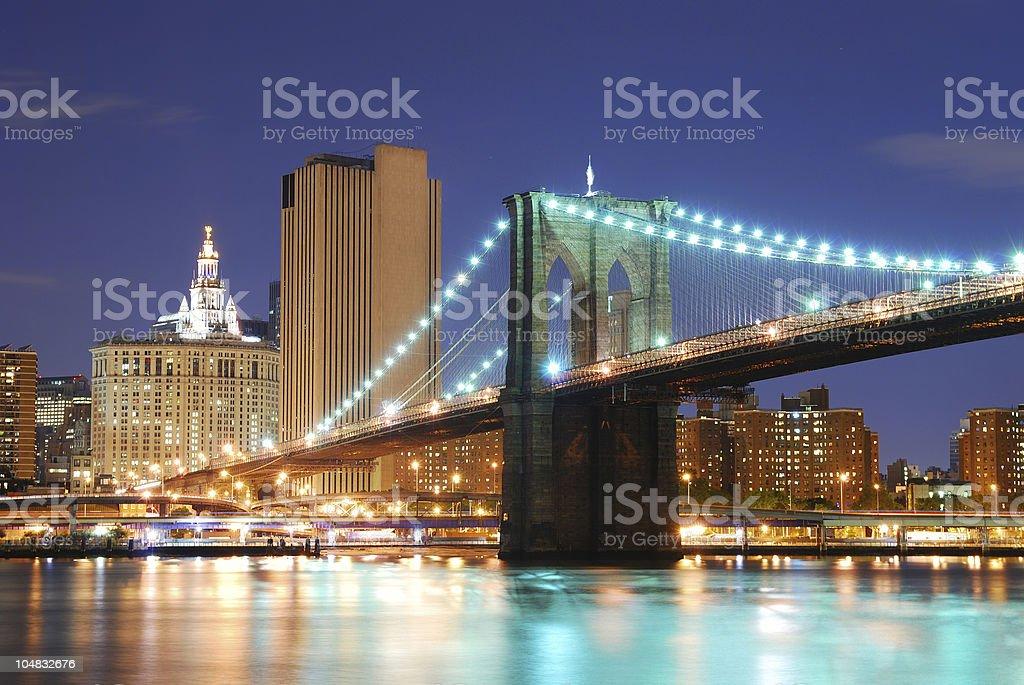 Brooklyn Bridge in New York City Manhattan royalty-free stock photo