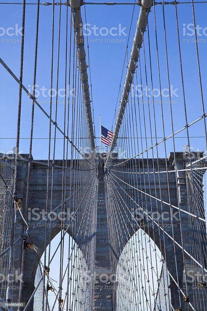 Brooklyn Bridge in New York City royalty-free stock photo