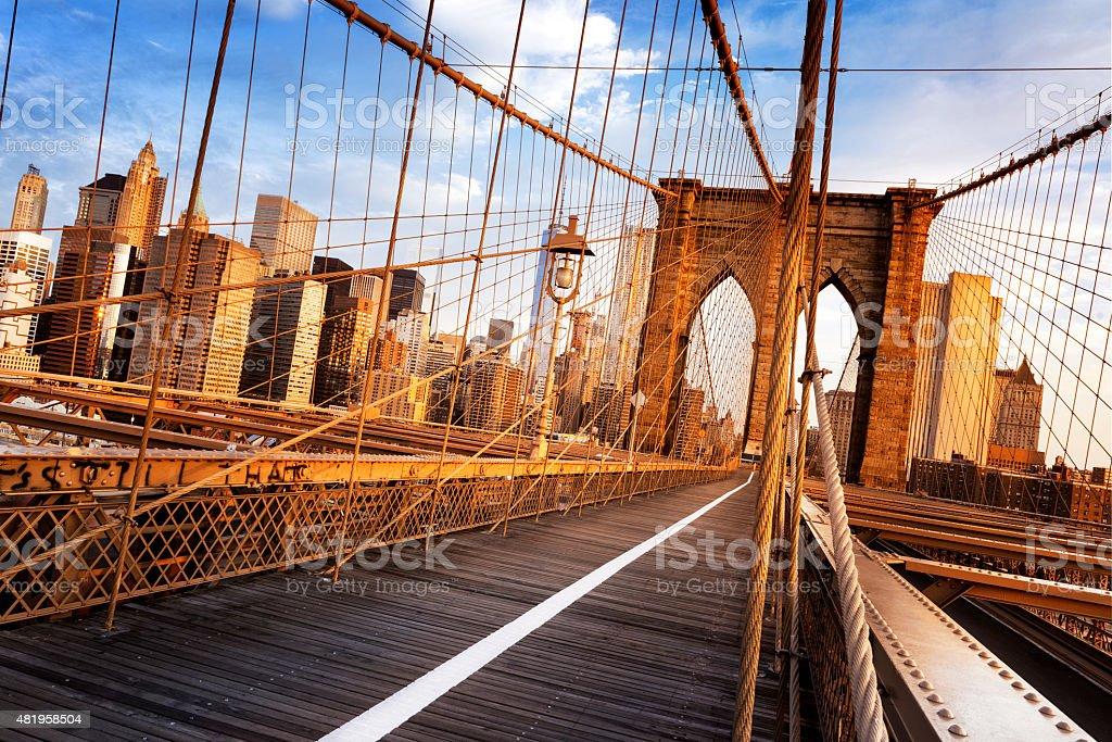 Brooklyn Bridge in New York City stok fotoğrafı