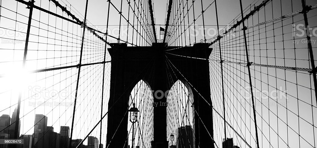 Brooklyn Bridge in New York City royalty-free stock photo