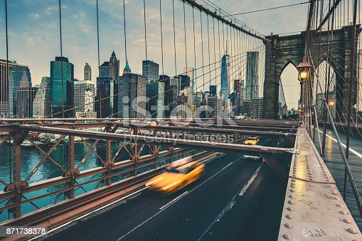 Brooklyn Bridge in NYC, USA.