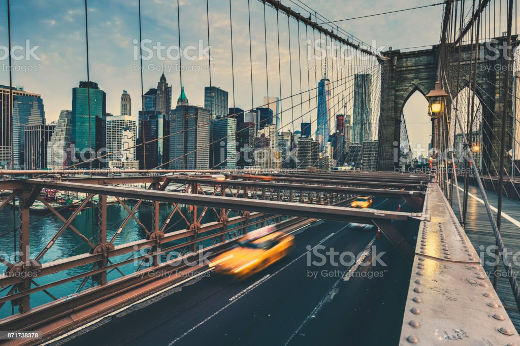 Brooklyn Bridge in NYC stock photo