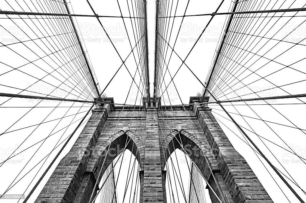Brooklyn bridge in NYC, USA stock photo