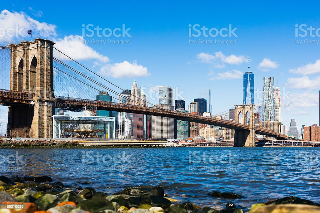 Brooklyn Bridge Lower Manhattan stock photo