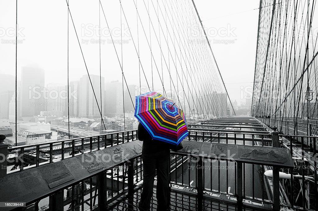 Brooklyn bridge Manhattan NY stock photo