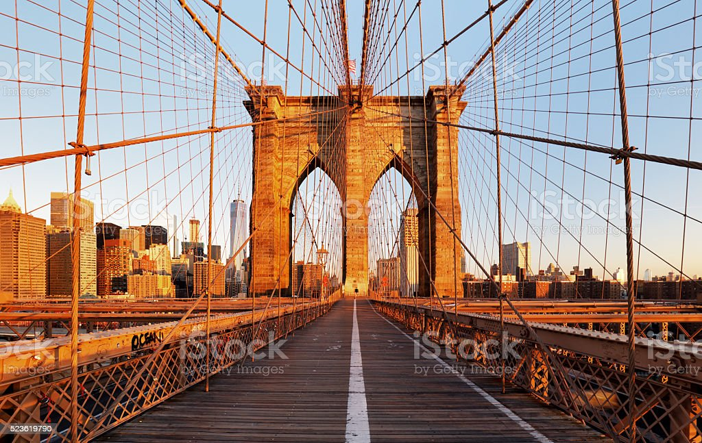 Brooklyn Bridge, New York City, nobody stock photo
