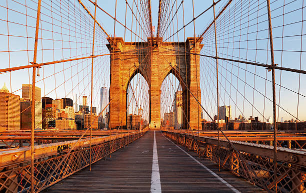 Brooklyn Bridge, New York City, nobody stock photo