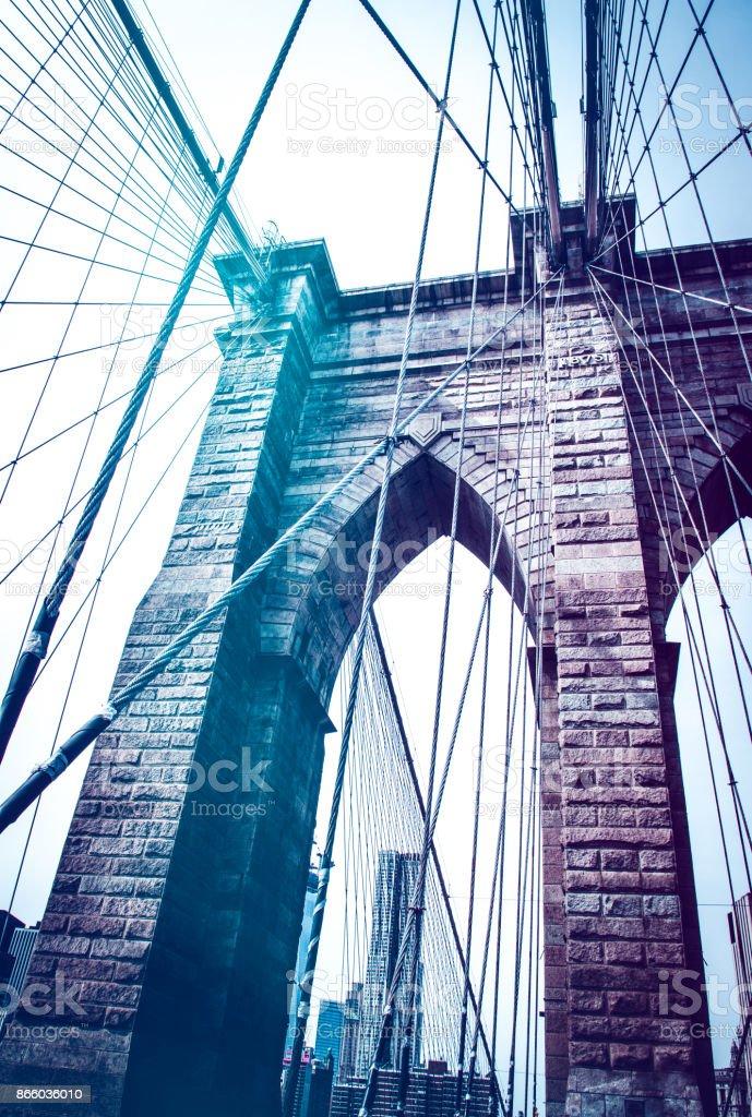 Brooklyn Bridge, New York City stock photo