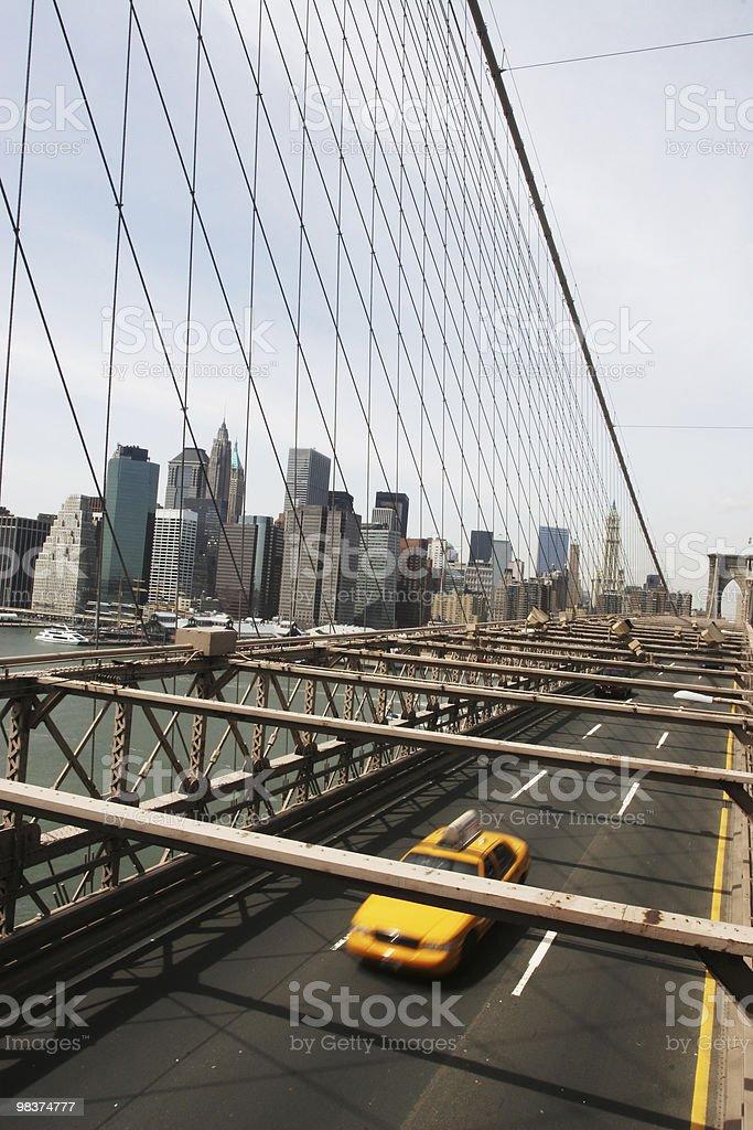 브루클린 브리지-뉴욕 시티 royalty-free 스톡 사진