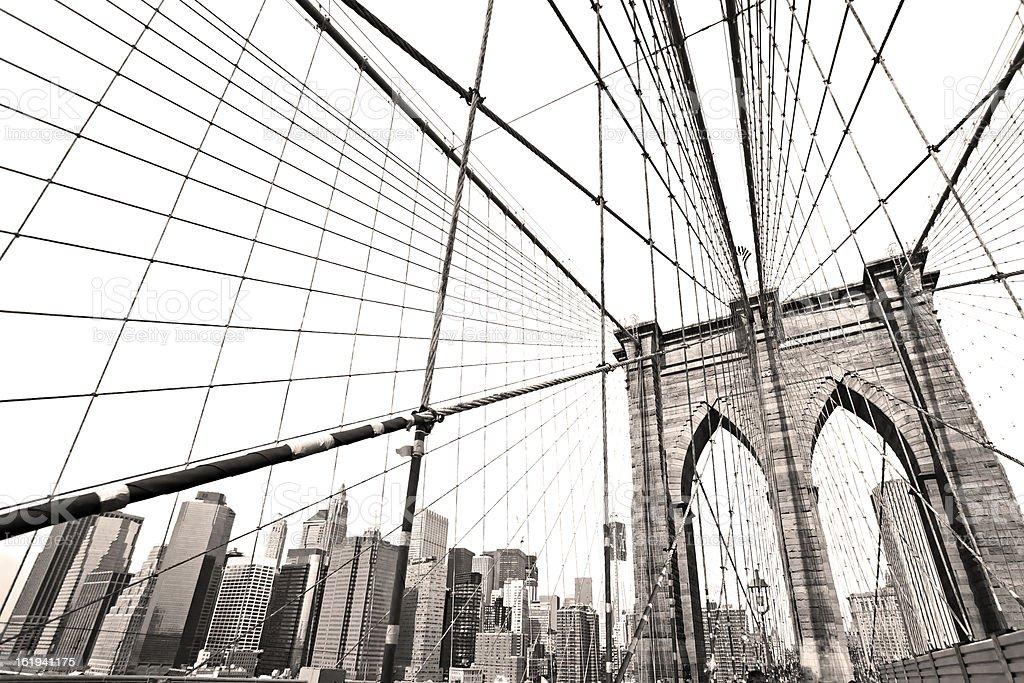 Brooklyn Bridge, New York City. USA. royalty-free stock photo