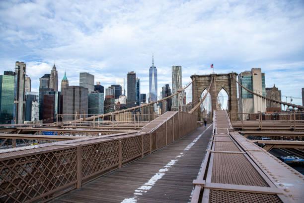 ブルックリンブリッジ (ニューヨーク州) - corona newyork ストックフォトと画像