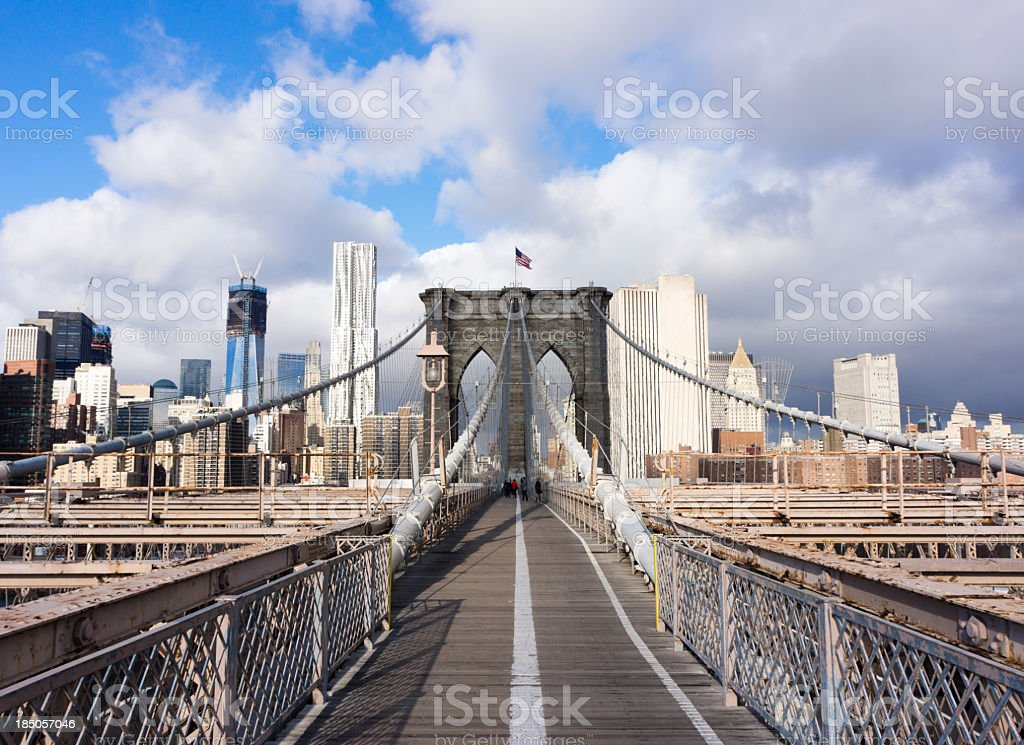 Brooklyn bridge New York royalty-free stock photo