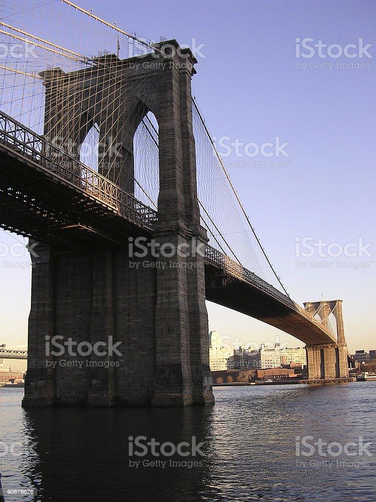 Brooklyn Bridge - New York royalty-free stock photo