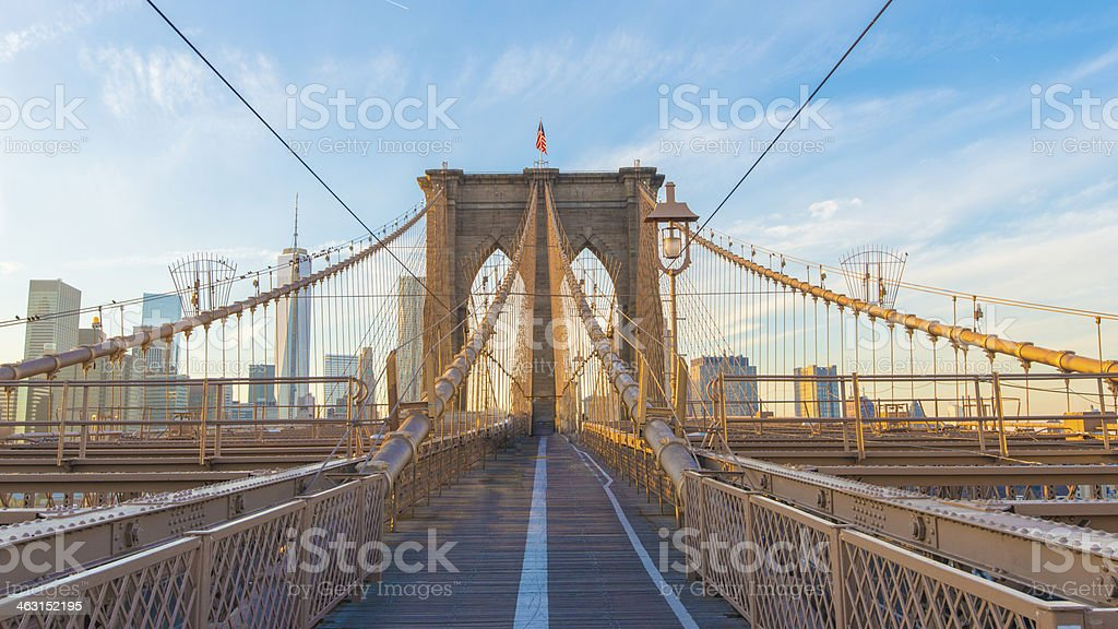 Brooklyn Bridge, New York, USA - Royalty-free Angle Stock Photo