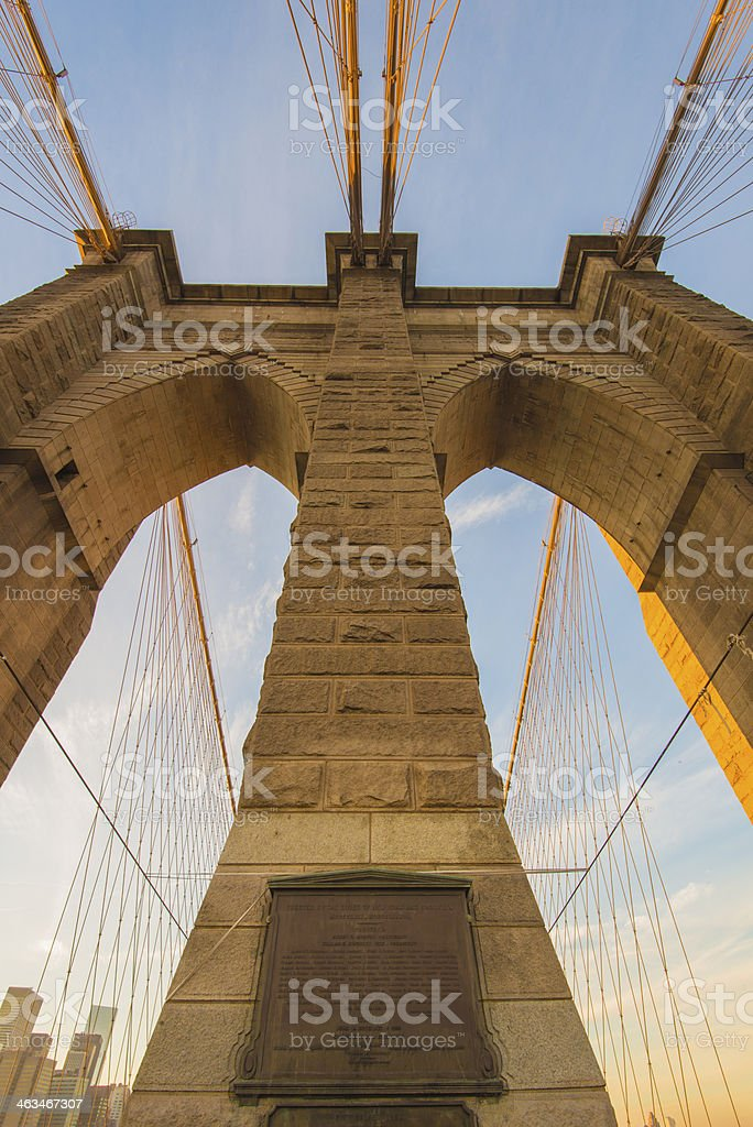 Brooklyn Bridge, New York, USA royalty-free stock photo