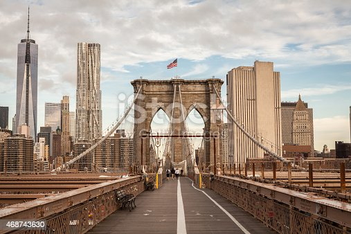 458128003 istock photo Brooklyn Bridge, New York, USA 468743630