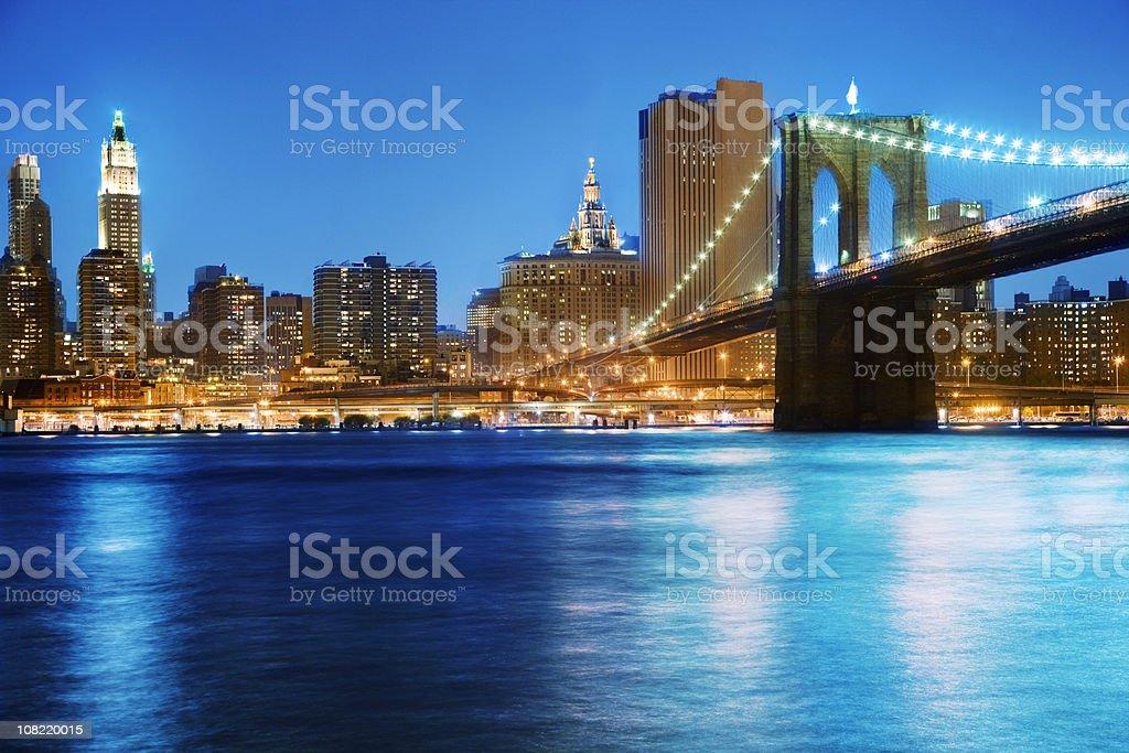 Brooklyn Bridge - NY royalty-free stock photo