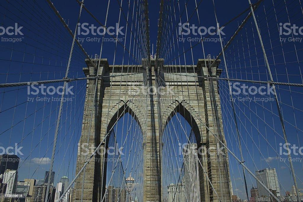 Brooklyn Bridge NY royalty-free stock photo