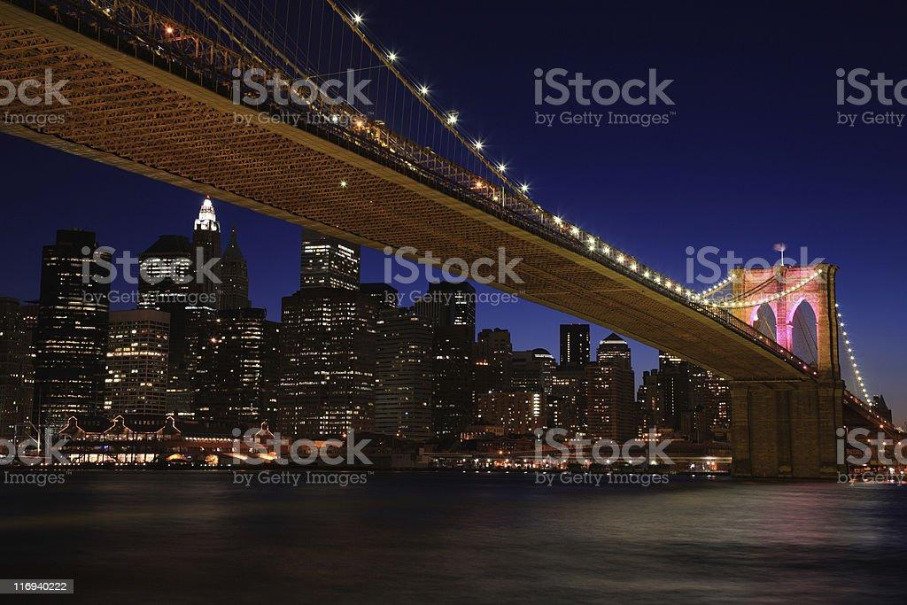 Brooklyn Bridge, NYC royalty-free stock photo
