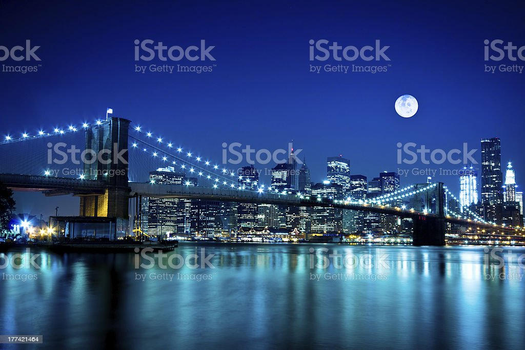 Brooklyn Bridge NYC stock photo