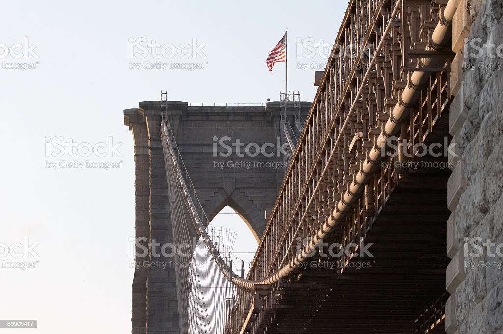 Ponte di Brooklyn a New York foto stock royalty-free