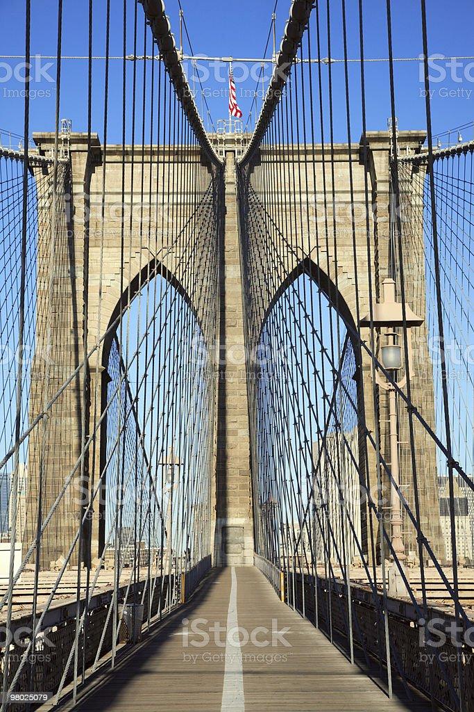 브루클린 다리, 뉴욕 royalty-free 스톡 사진