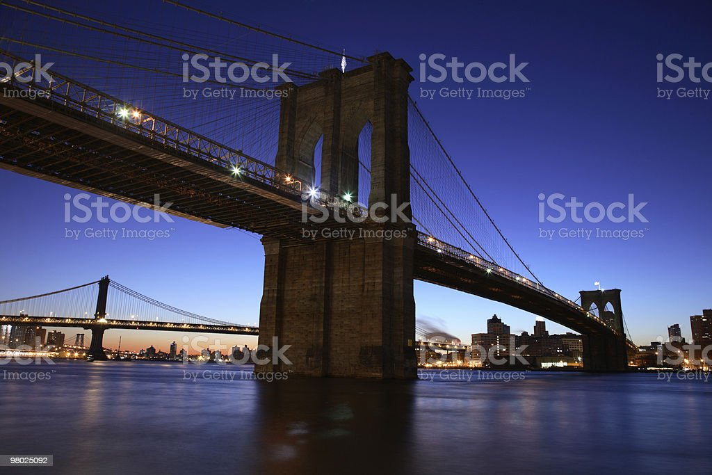 Ponte di Brooklyn, New York foto stock royalty-free