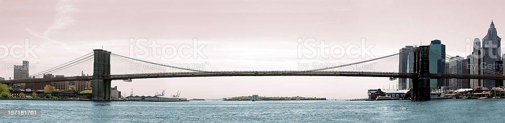 brooklyn bridge panoramic royalty-free stock photo