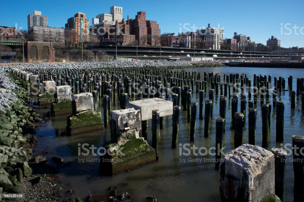 Brooklyn Bridge Park and Promenade, New York City royalty-free stock photo