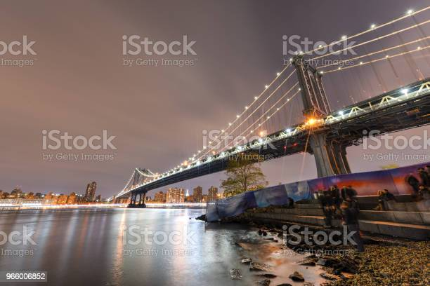 Brooklyn Bridge Park På Natten-foton och fler bilder på Arkitektur