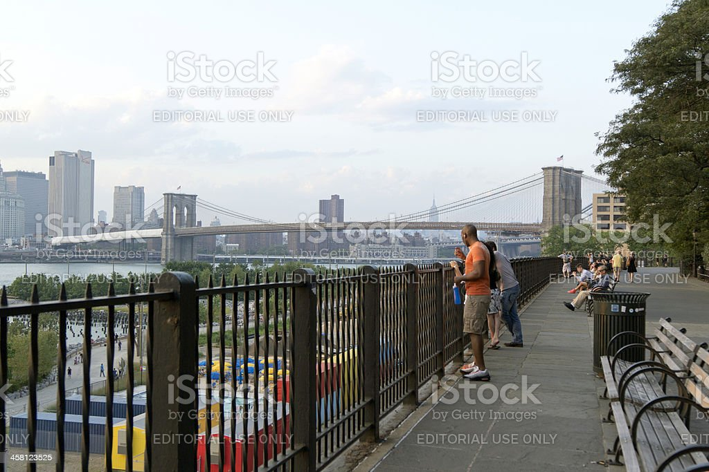 Brooklyn Bridge Park Greenway royalty-free stock photo