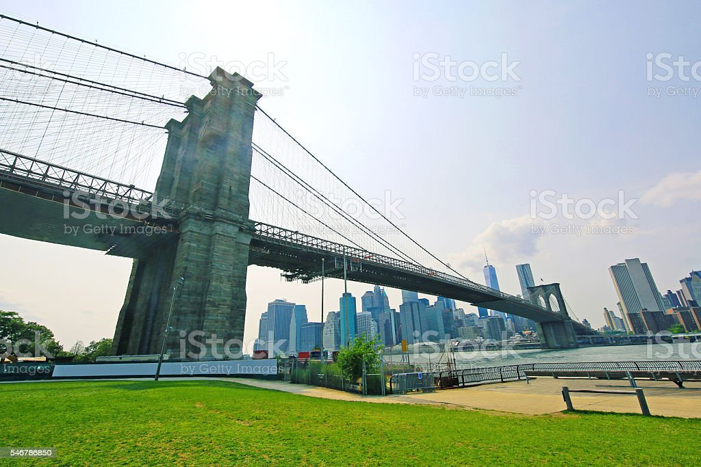 Brooklyn Bridge Park New York City stock photo