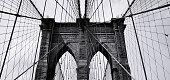 Brooklyn bridge in black and white