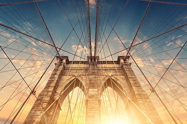 Brooklyn Bridge - foto de acervo