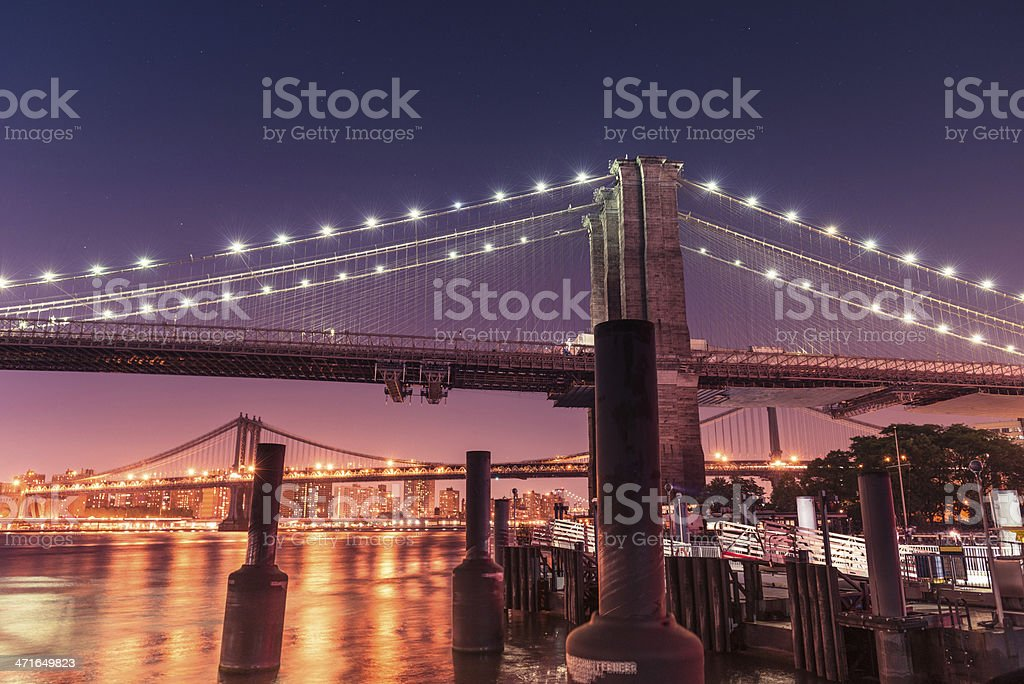 NYC brooklyn bridge royalty-free stock photo