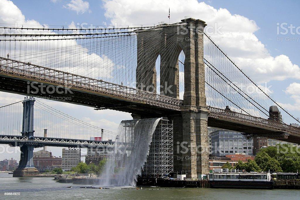 Puente de Brooklyn foto de stock libre de derechos