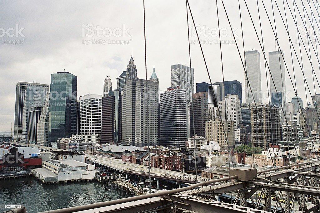 NYC - Brooklyn Bridge royalty-free stock photo