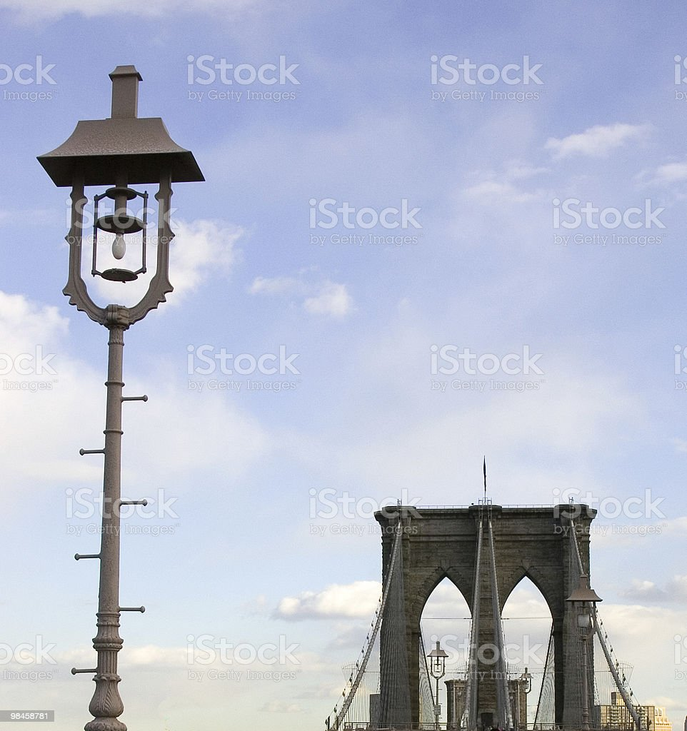 Brooklyn Bridge Top royalty-free stock photo