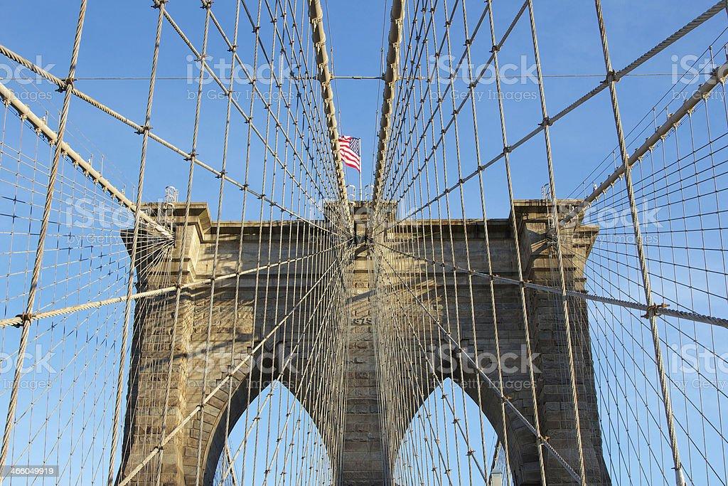 Brooklyn Bridge Tower royalty-free stock photo