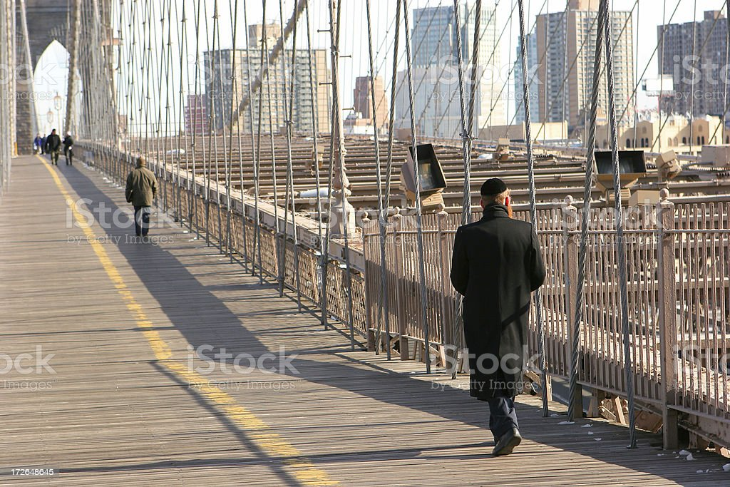 Brooklyn Bridge Walk stock photo