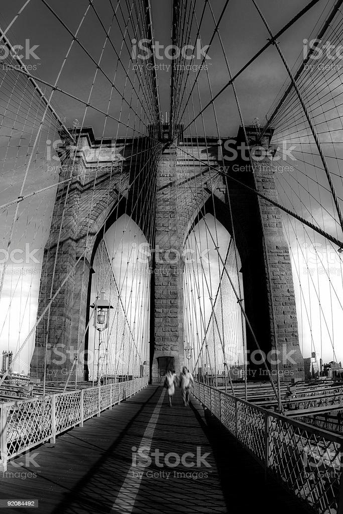 Brooklyn bridge walk royalty-free stock photo