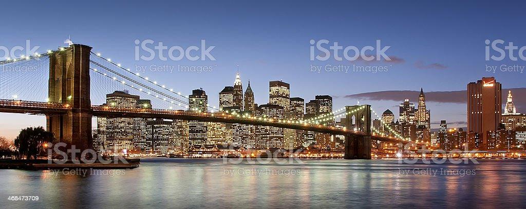 Brooklyn Brige sunset royalty-free stock photo