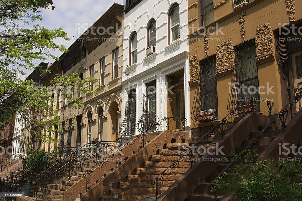 Brooklyn Brownstones royalty-free stock photo