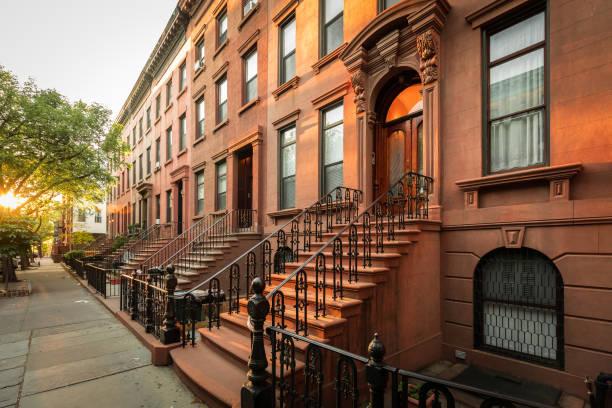 Brooklyn Brownstones - foto de acervo