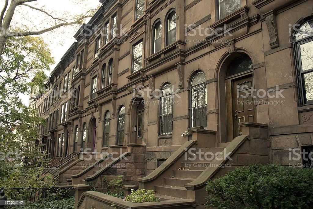 Brooklyn Brownstownes royalty-free stock photo