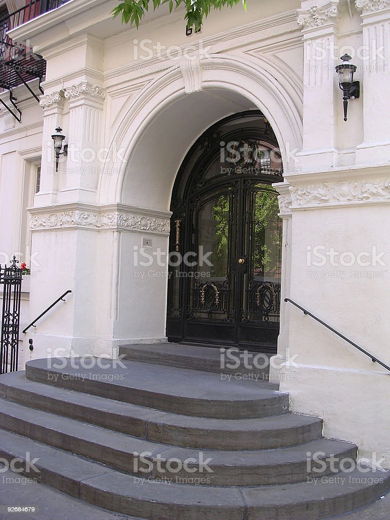 Brooklyn Building Entrance royalty-free stock photo
