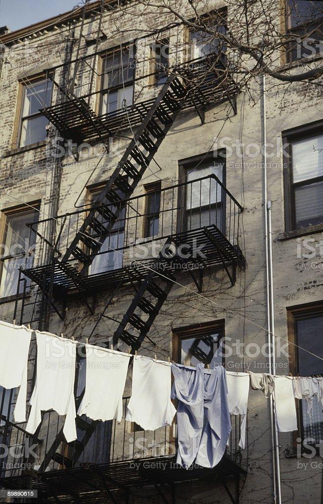 Brooklyn Clothesline royalty-free stock photo