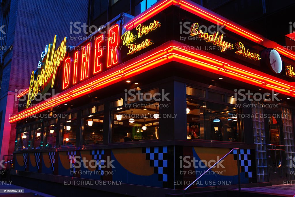 Brooklyn Diner stock photo