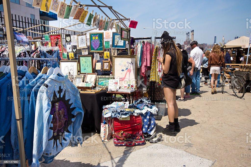 Brooklyn Flea Market stock photo