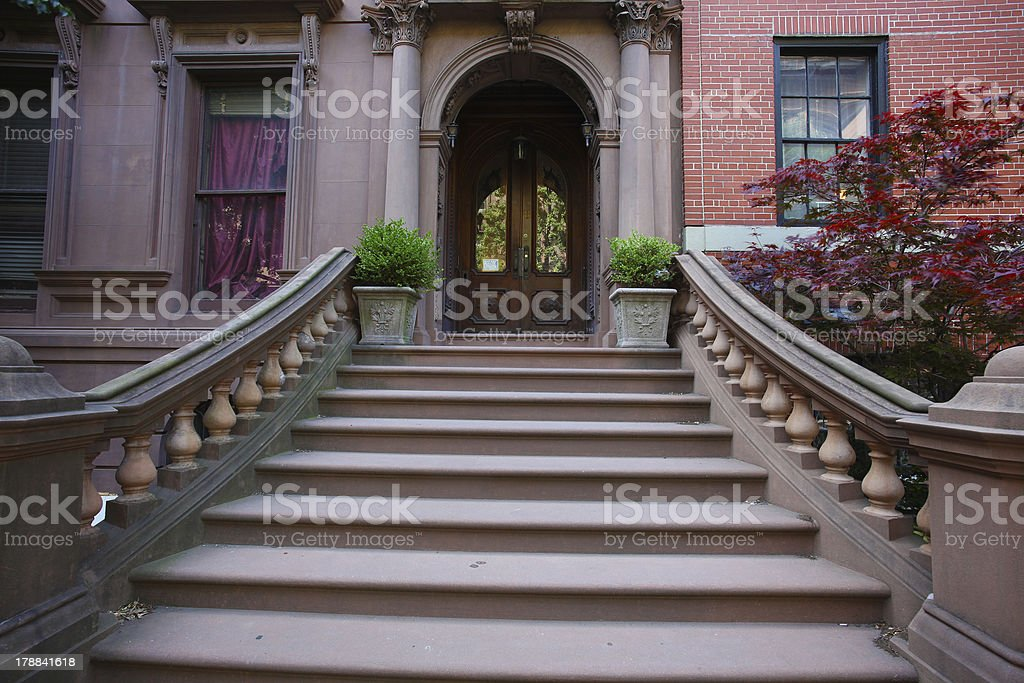 Brooklyn Heights Balustrade royalty-free stock photo